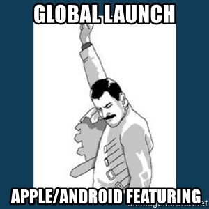 Freddy Mercury - global launch  Apple/Android featuring