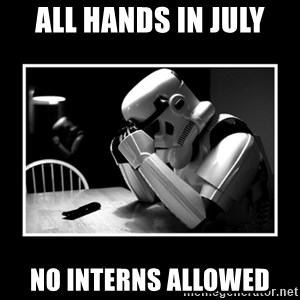 Sad Trooper - All Hands in July No interns allowed