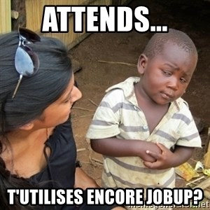 Skeptical 3rd World Kid - Attends... t'utilises encore Jobup?