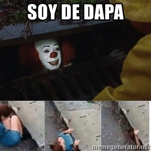 Pennywise in sewer - soy de dapa