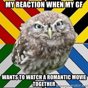 JEALOUS POTTEROMAN - My reaction WHEN my gf wants to watch a romantic movie together