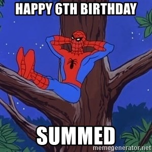 Spiderman Tree - happy 6th birthday summed