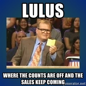 drew carey - LULUS where the counts are off and the sales keep coming