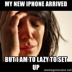 crying girl sad - My new iPhone ARRIVED  BuT i am to lazy to set up