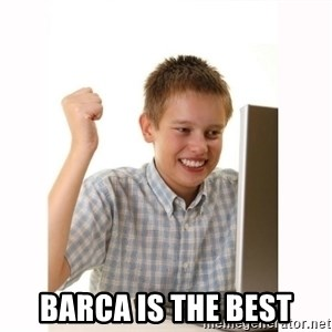 Computer kid -  Barca is the best