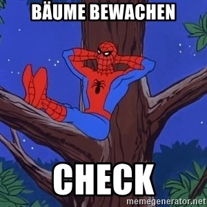 Spiderman Tree - Bäume bewachen check
