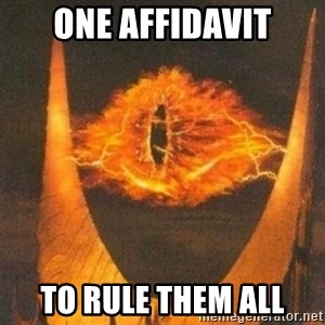 Eye of Sauron - one affidavit to rule them all