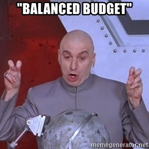 "Dr. Evil Air Quotes - ""balanced BUDGET"""