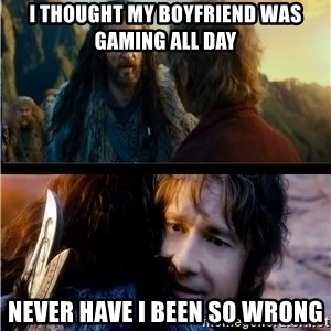 Bilbo and Thorin - I thought my boyfriend was gaming all day NeVer have i been so wrong