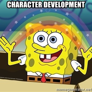 spongebob rainbow - character development