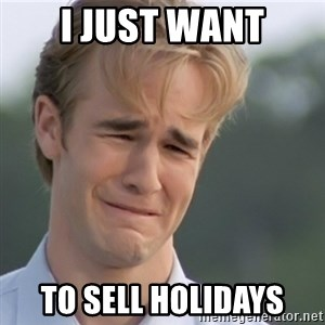 Dawson's Creek - i just want to sell holidays