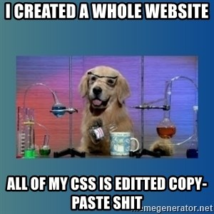 Chemistry Dog - I created a whole website all of my css is editted copy-paste shit