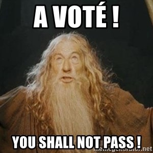 You shall not pass - A VOTÉ ! You SHALL NOT PASS !