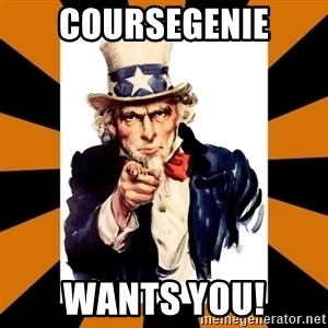 Uncle sam wants you! - CourseGenie wants you!