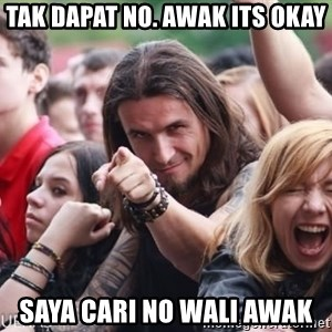 Ridiculously Photogenic Metalhead Guy - tak dapat no. awak its okay saya cari no wali awak