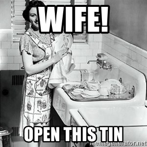 50s Housewife - Wife! Open this tin