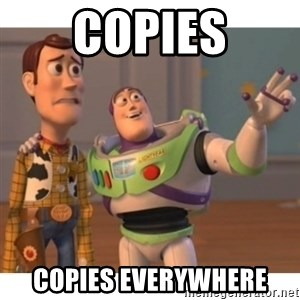 Toy story - Copies copies everywhere