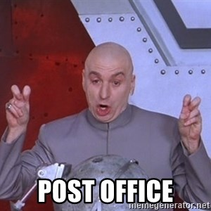 Dr. Evil Air Quotes -  post office