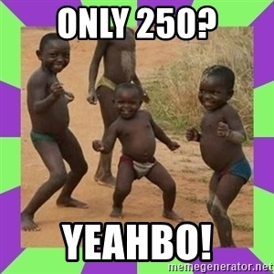 african kids dancing - only 250? yeahbo!