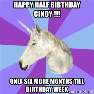 ASMR Unicorn - Happy half birthday cindy !!! Only six morE months till birthday week