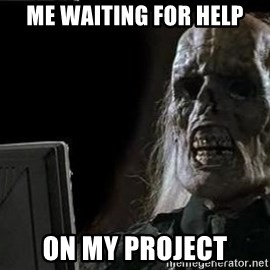 OP will surely deliver skeleton - me waiting for help on my project