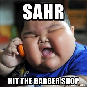 Fat Asian Kid - SAhr  Hit the barber shop