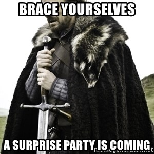 Ned Game Of Thrones - Brace yoursElves A surprise party is comIng