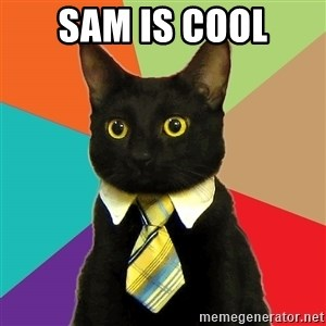 Business Cat - SAM IS COOL