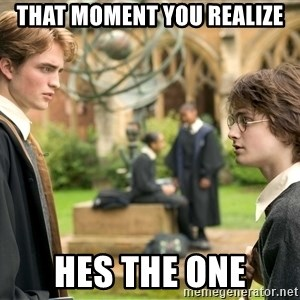 Harry Potter  - that moment you realize hes the one