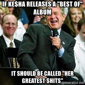 """Laughing Bush - If Ke$ha releases a """"Best of"""" Album it should be called """"Her Greatest $hits"""""""
