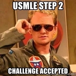 Barney Stinson - USMLE step 2 Challenge accepted