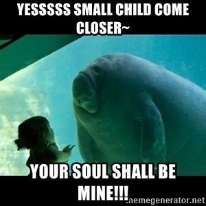 Overlord Manatee - Yesssss Small child come closer~ Your soul shall be mine!!!