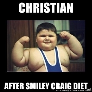 Fat kid - Christian after smiley craig DIET