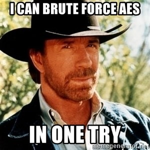 Brutal Chuck Norris - I CAN BRUTE FORCE AES in ONE TRY