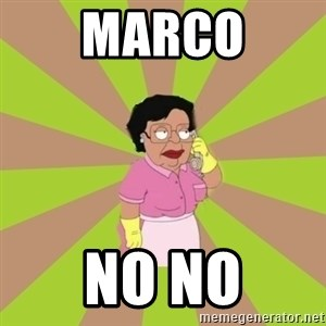 Consuela Family Guy - Marco No no
