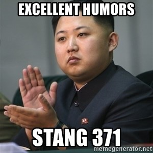 Kim Jong Un clapping - Excellent humors Stang 371