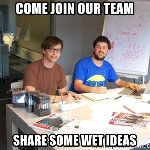 Naive Junior Creatives - come join our team share some wet ideas