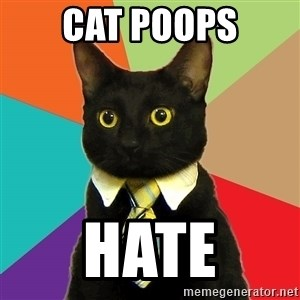 Business Cat - cat poops hate
