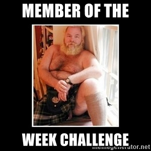 Sexy Scotsman - Member of the  Week CHALLENGE