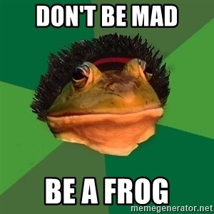 Foul Bachelor Frog - Don't be mad Be a Frog