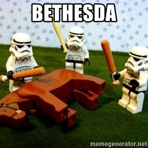 Beating a Dead Horse stormtrooper - BETHESDA