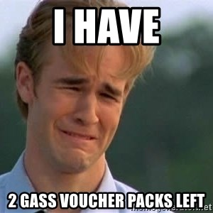 James Van Der Beek - I have 2 GASS Voucher Packs Left