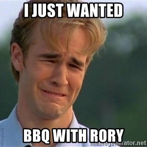 Crying Man - I just wanted bbq with rory