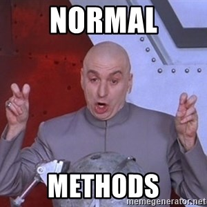 Dr. Evil Air Quotes - normal methods