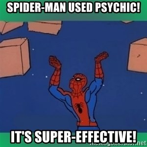 60's spiderman - spider-man used psychic! it's super-effective!