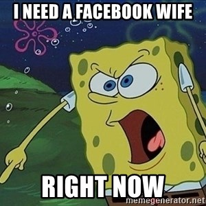 Spongebob Rage - I NEED A FACEBOOK WIFE RIGHT NOW