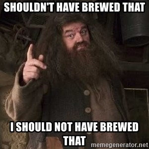 Hagrid - Shouldn't have brewed that I should not have brewed that