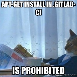 newspaper cat realization - apt-GET install in .gitlab-ci IS prohibited