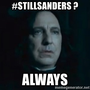 Always Snape - #Stillsanders ? always