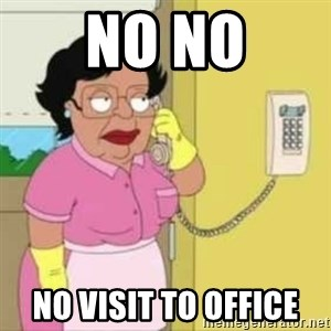 Family guy maid - No No No visit to office